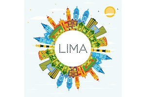 Lima Peru City Skyline