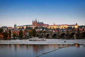 Prague in evening