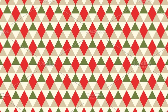 Set Christmas Geometric Patterns Graphic Patterns Creative Market Best Christmas Patterns
