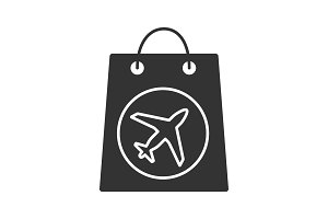 Duty free purchase glyph icon