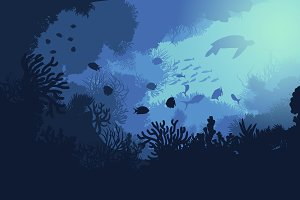 Colorful Underwater Life Template