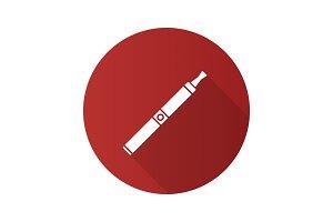 E-cigarette flat design long shadow glyph icon