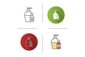 Antibacterial liquid and soap icon