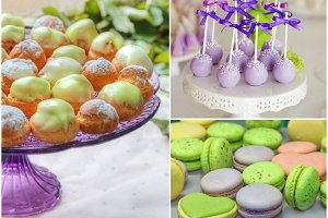 sweet candy buffet party set