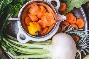 Organic farm vegetables