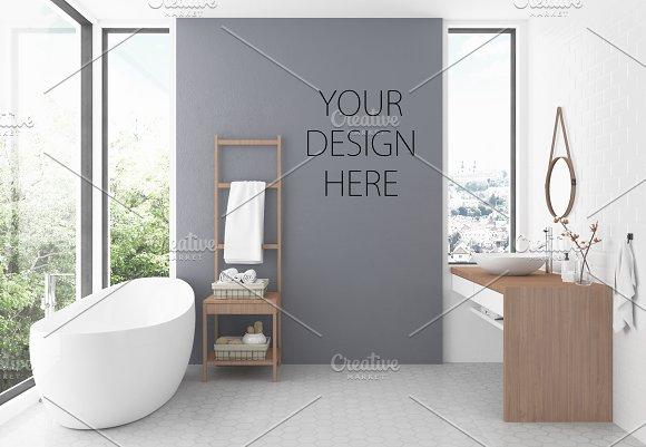 Interior Mockup Bathroom Background Creative Daddy