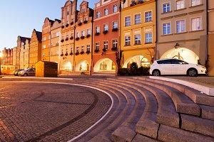 Jelenia Gora City at Dusk in Poland