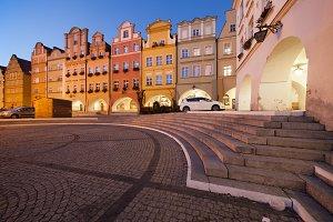 Jelenia Gora City in Poland at Night