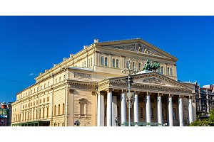 The Bolshoi Theatre in Moscow, Russia