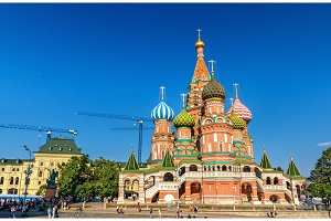 Saint Basil Cathedral in Red Square of Moscow