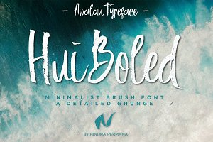 Hui Boled Hand Brush Typeface