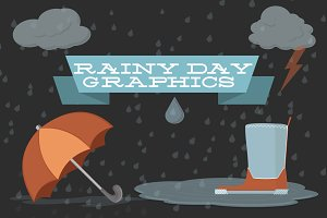 Rainy Day Vector Graphics Icons