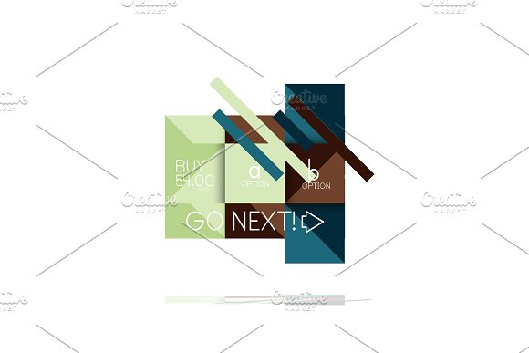 Square option infographic banner. Data and information visualization, geometric design in Illustrations
