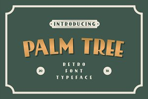 Palm Tree Retro Font