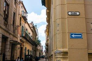 sign CUBA on Havana street