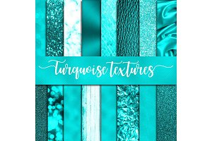Turquoise Textures Digital paper