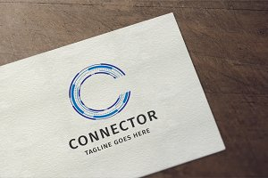 Letter C - Connector Logo