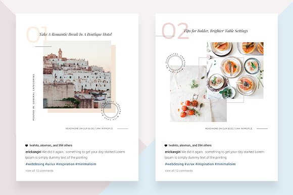 CANVA Food & Travel Instagram Posts in Instagram Templates - product preview 1