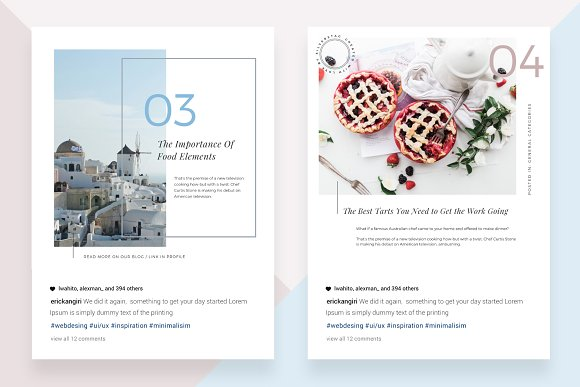 CANVA Food & Travel Instagram Posts in Instagram Templates - product preview 2