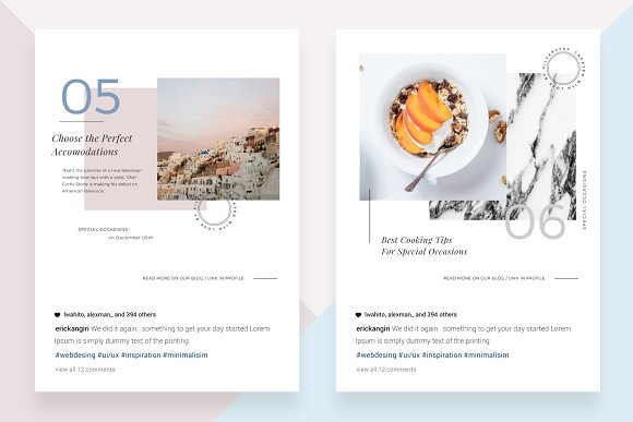 CANVA Food & Travel Instagram Posts in Instagram Templates - product preview 3