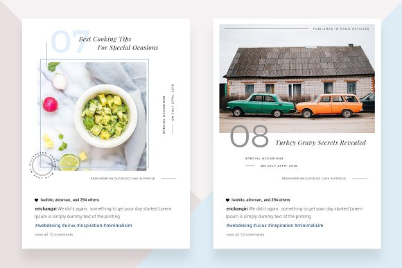 CANVA Food & Travel Instagram Posts in Instagram Templates - product preview 4