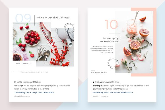 CANVA Food & Travel Instagram Posts in Instagram Templates - product preview 5