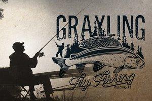 Grayling Fly Fishing Logos.