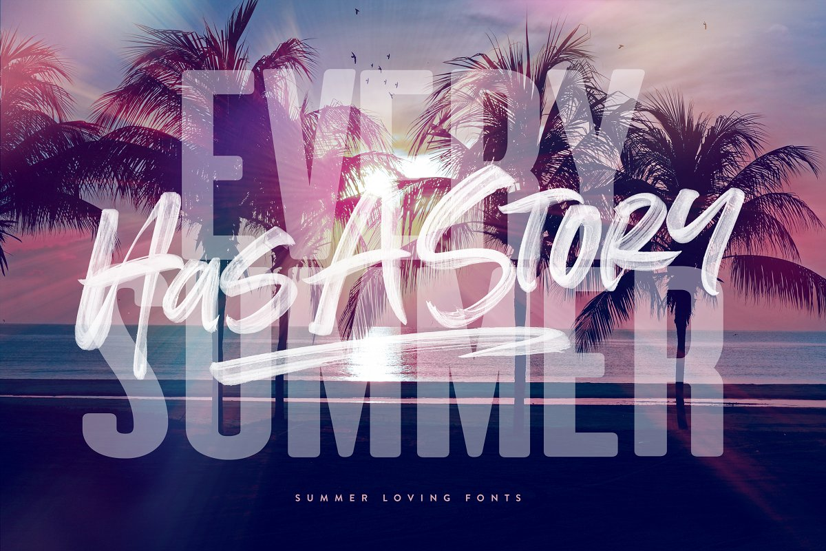Summer Loving Font Collection in Display Fonts - product preview 17