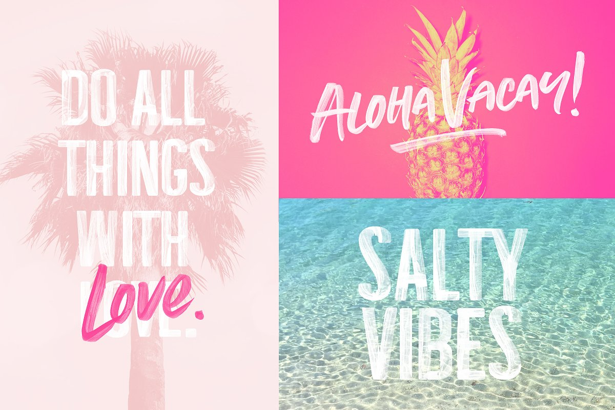 Summer Loving Font Collection in Display Fonts - product preview 25