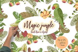 Magic Jungle Clipart Illustration