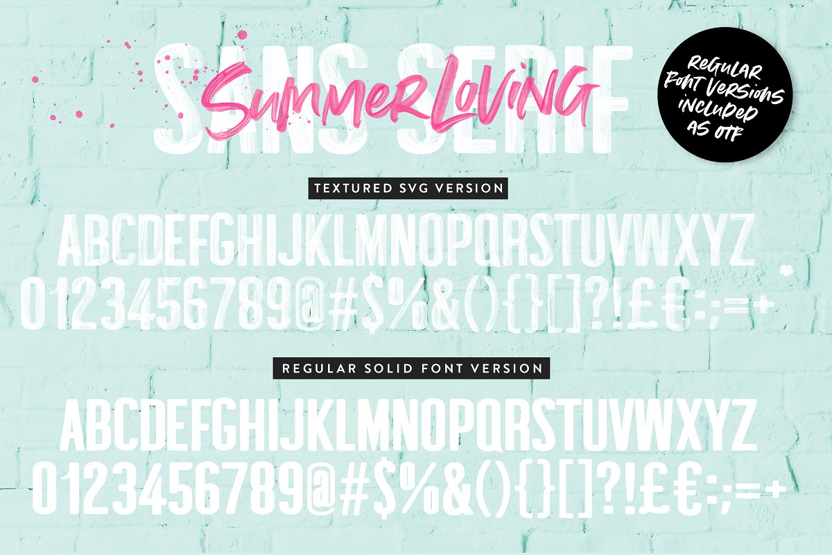 Summer Loving Font Collection in Display Fonts - product preview 11
