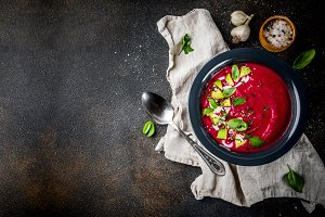 Beetroot gazpacho soup