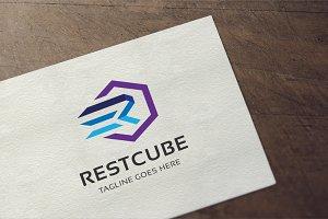 Letter R - Cube Logo