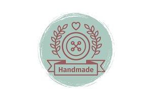Grunge handmade logo design