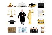 Jurisdiction and law cartoon elements