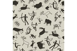 Cave painting background