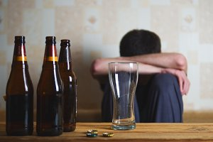 concept of alcoholism. The dangers of alcohol.