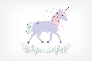 Cute unicorn full-length