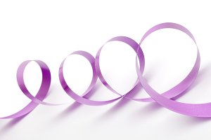 violet satin ribbon