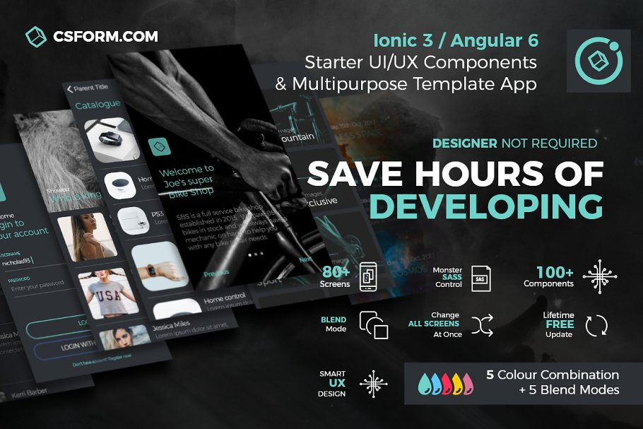 Ionic Multipurpose UI/UX Theme App ~ HTML/CSS Themes