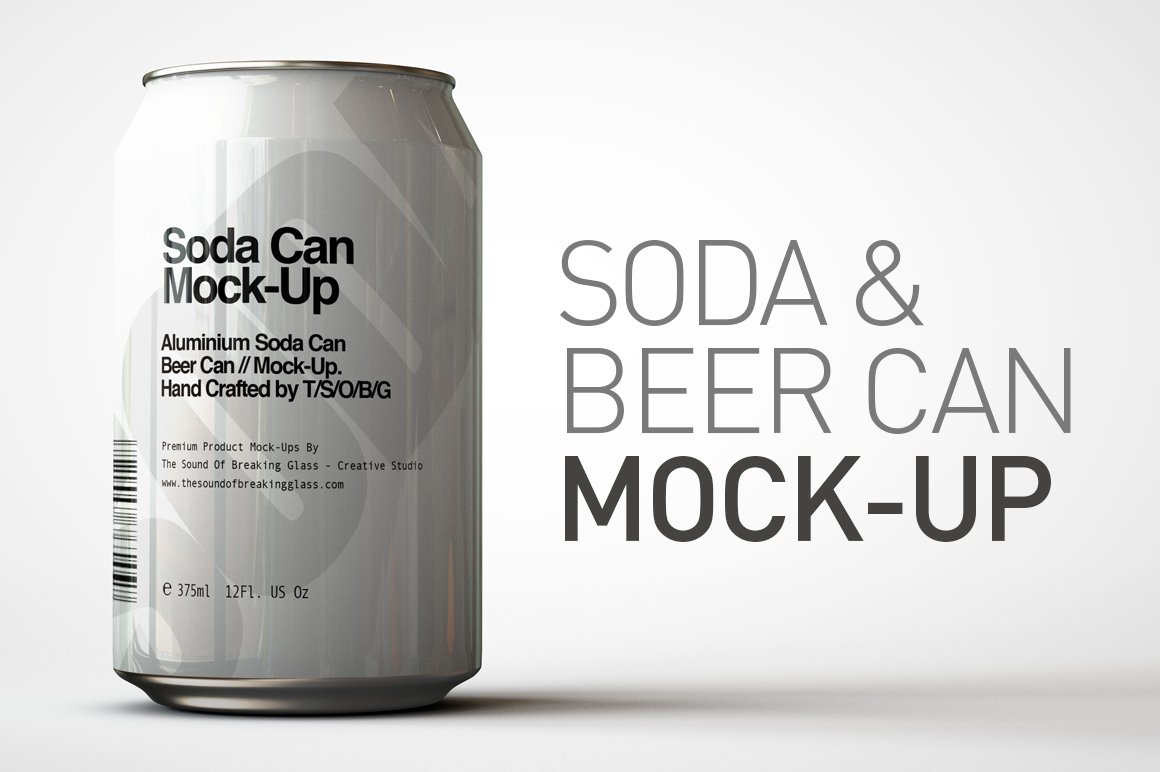 Soda Can Beer Can Mock Up 1 Product Mockups Creative