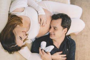 Pregnant woman posing