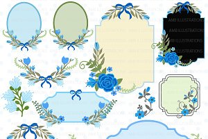 Floral Frames & Tags clipart AMB-863