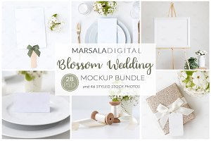 "Wedding Mockup Bundle ""Blossom"""