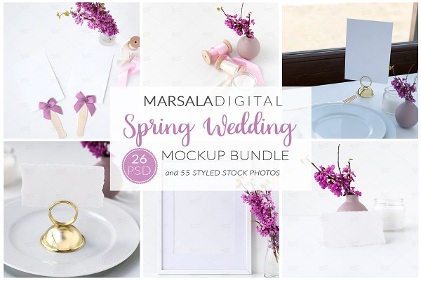 Spring Wedding Mockup Bundle