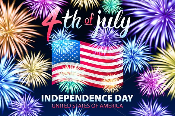 Independence day USA flag 4 july
