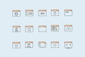 15 Web Concept Icons