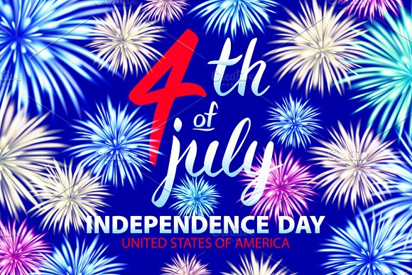 USA Independence Day firework in Graphics