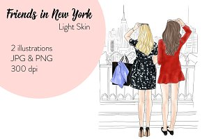 Friends in New York - Light Skin