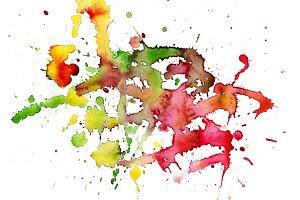 watercolor blot background